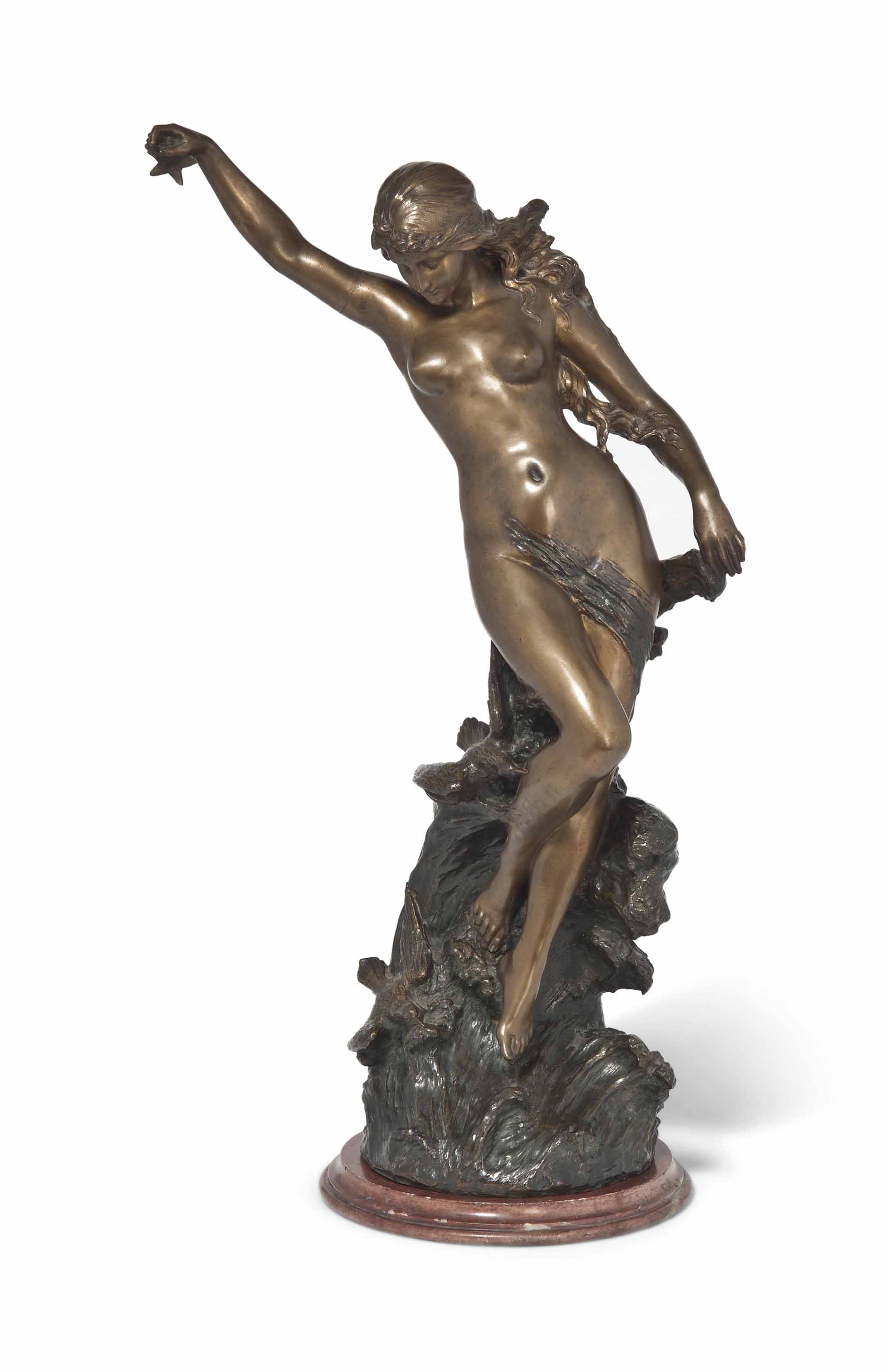 A LARGE FRENCH BRONZE FIGURE ENTITLED 'ETOILE DE MER'
