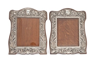 A NEAR PAIR OR EDWARDIAN SILVE