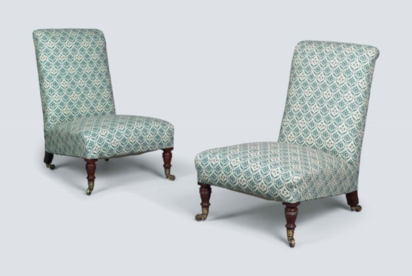 A PAIR OF VICTORIAN WALNUT LOW
