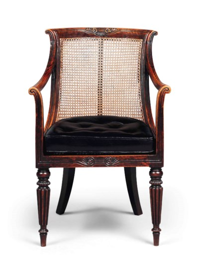 A REGENCY SIMULATED ROSEWOOD L
