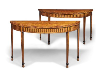 A PAIR OF SATINWOOD, INDIAN-RO