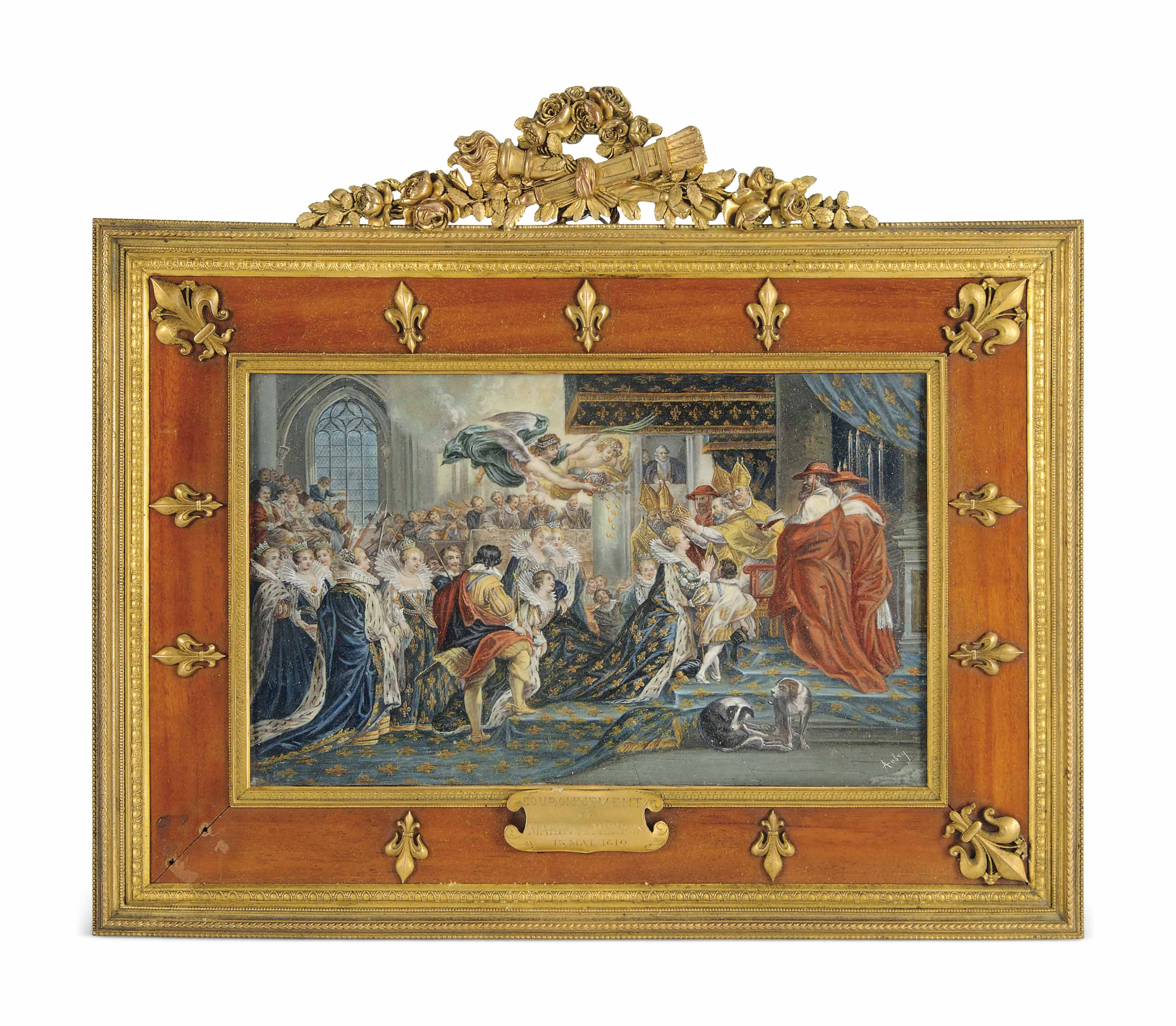 A FRENCH PAINTING ON IVORY OF