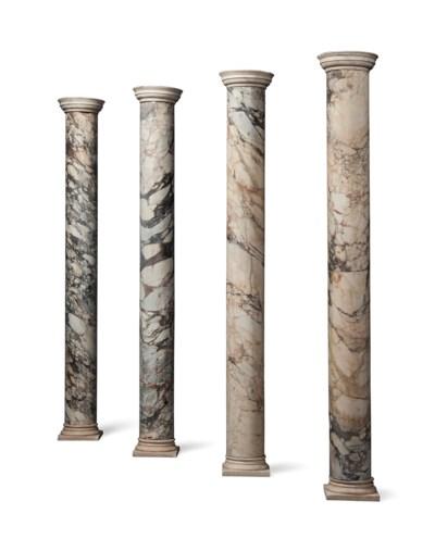 A SET OF FOUR ITALIAN MOTTLED