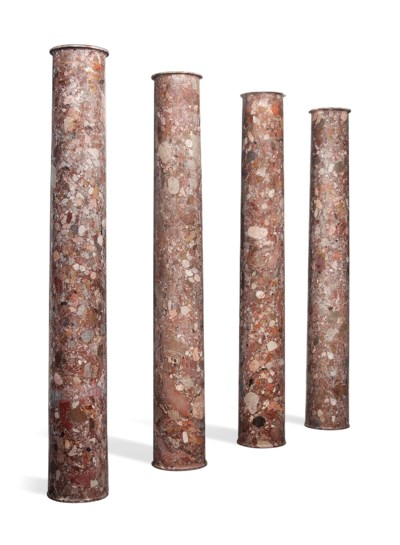 A SET OF EIGHT ITALIAN BRECCIA