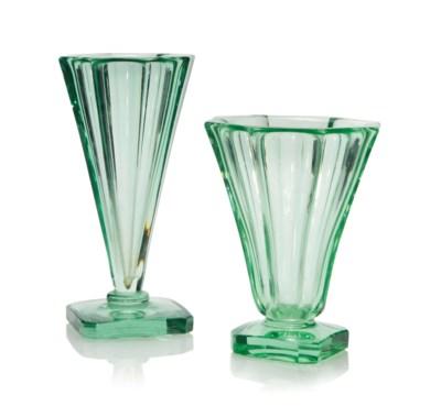TWO DAUM CUT-GLASS VASES