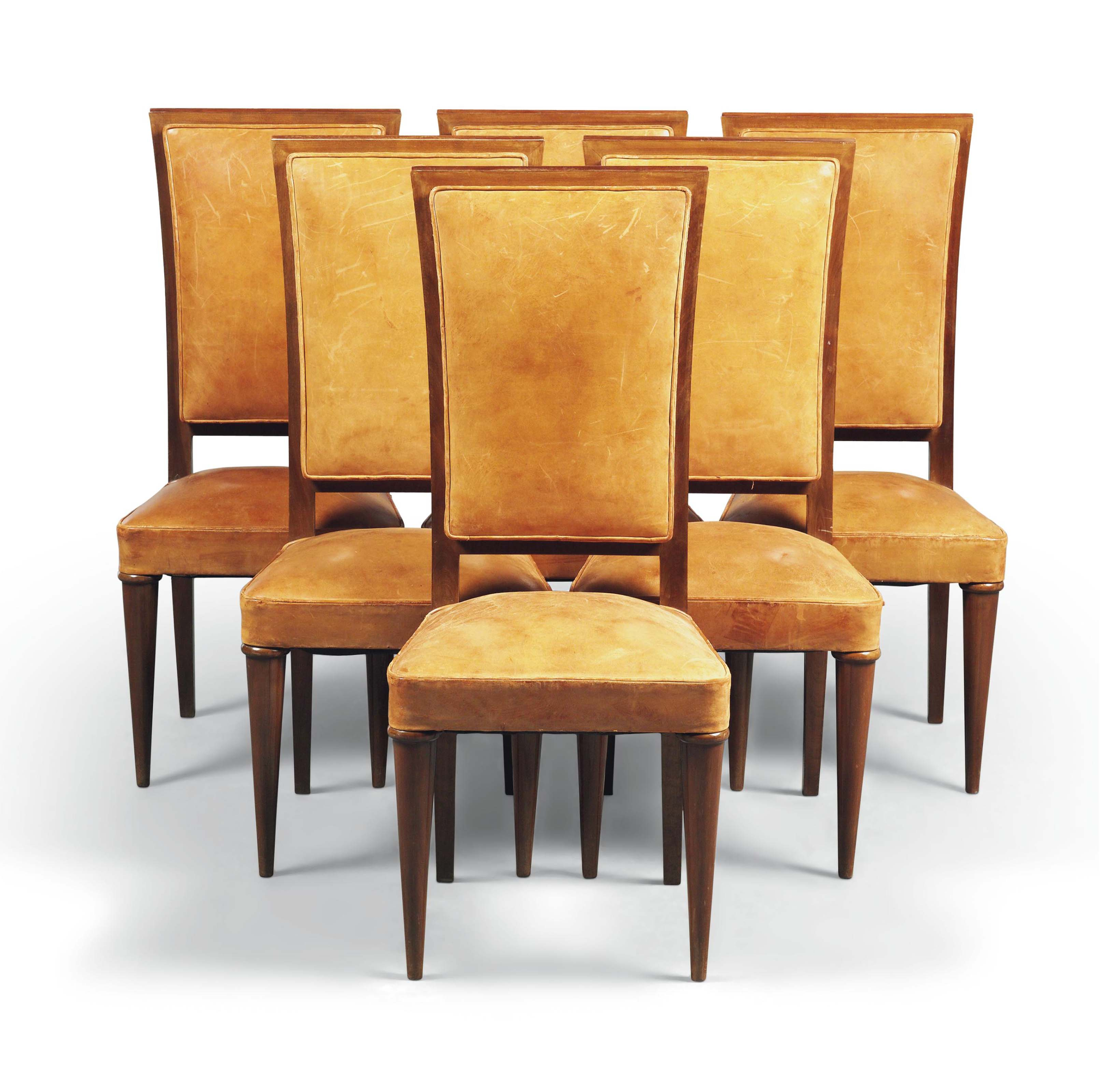 A SET OF SIX FRUITWOOD CHAIRS