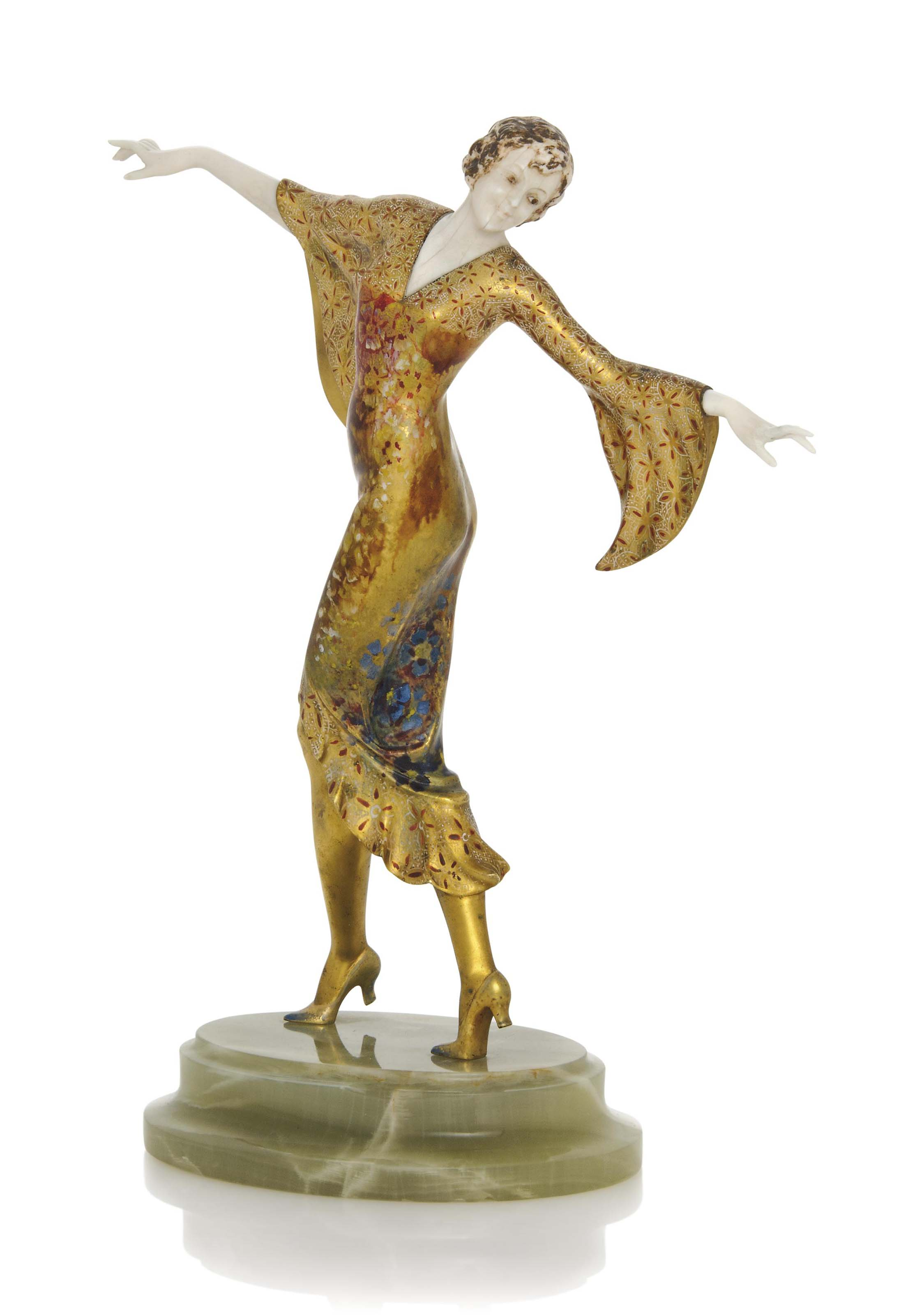'THE DANCER' AN ART DECO COLD-