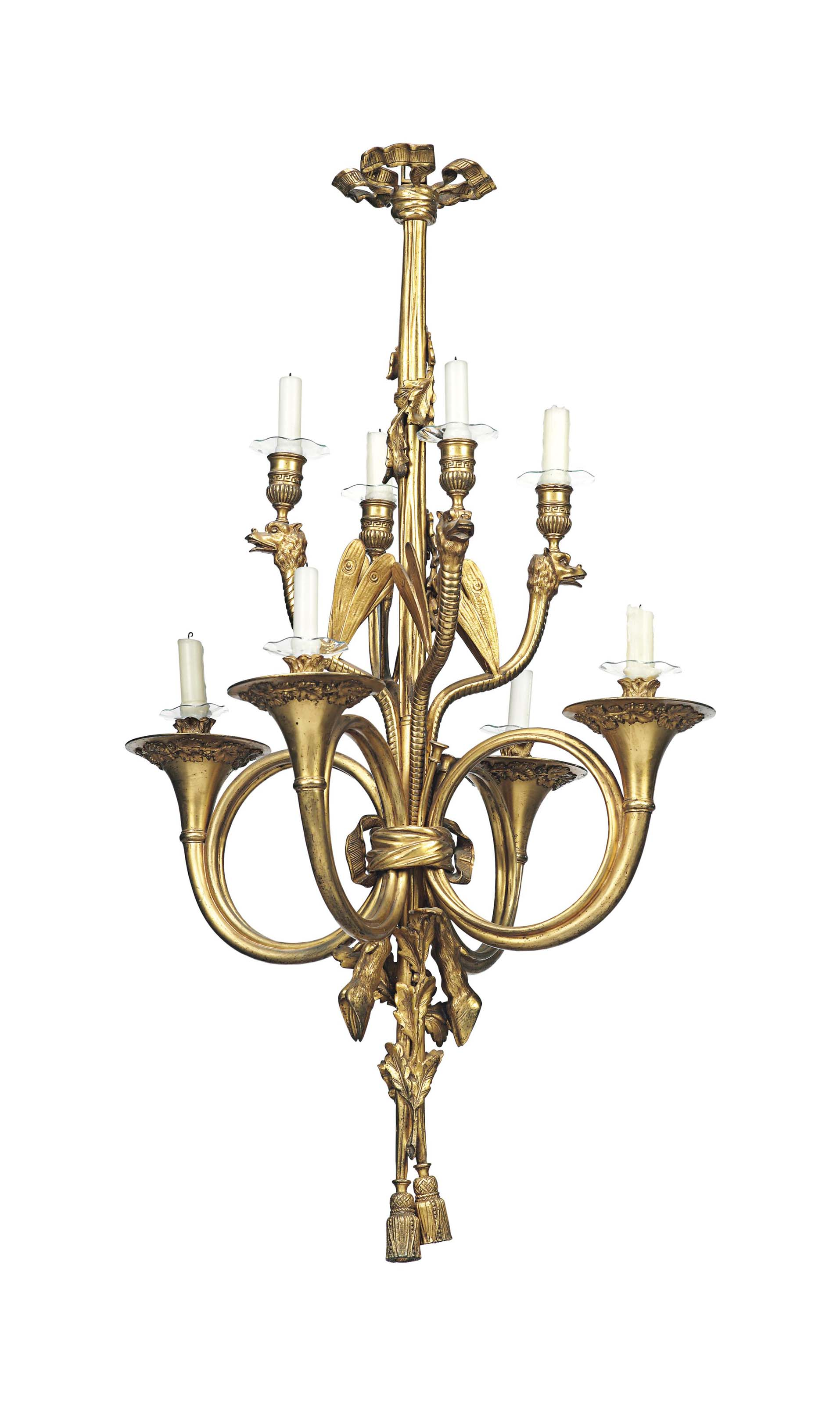 A FRENCH LACQUERED-BRONZE EIGH