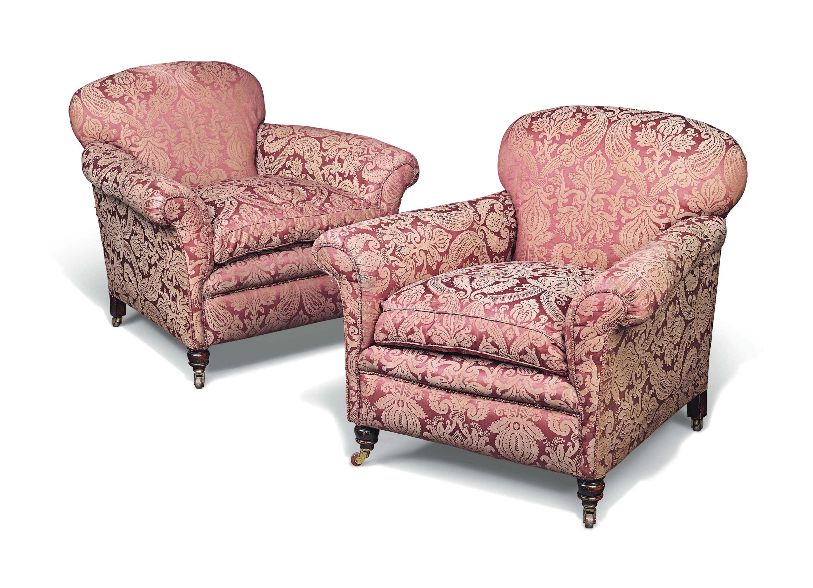 A PAIR OF LATE VICTORIAN EASY