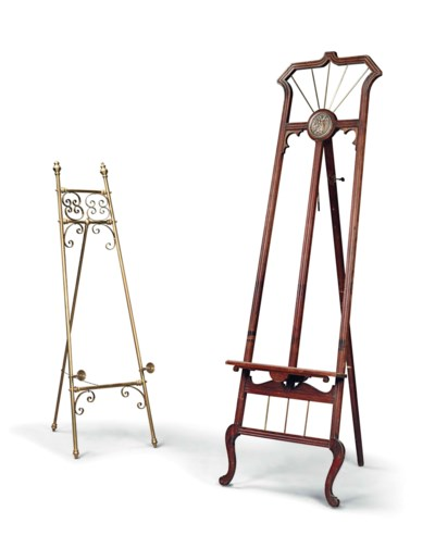 TWO GALLERY EASELS
