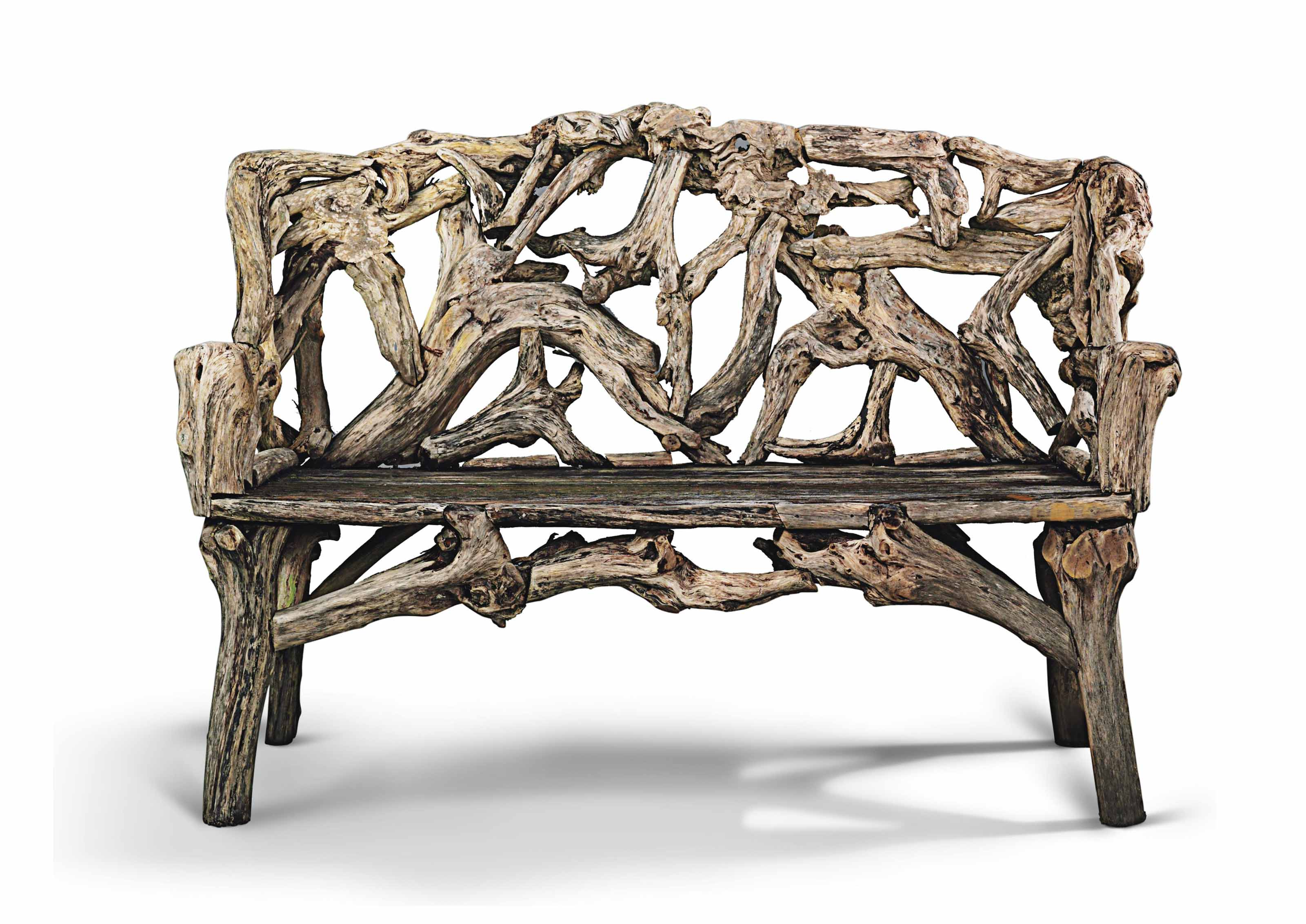 A ROOT WOOD GARDEN SEAT