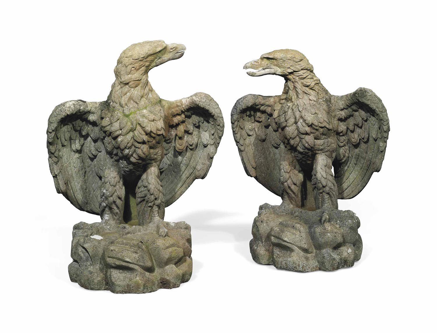 A PAIR OF VICTORIAN ARTIFICIAL