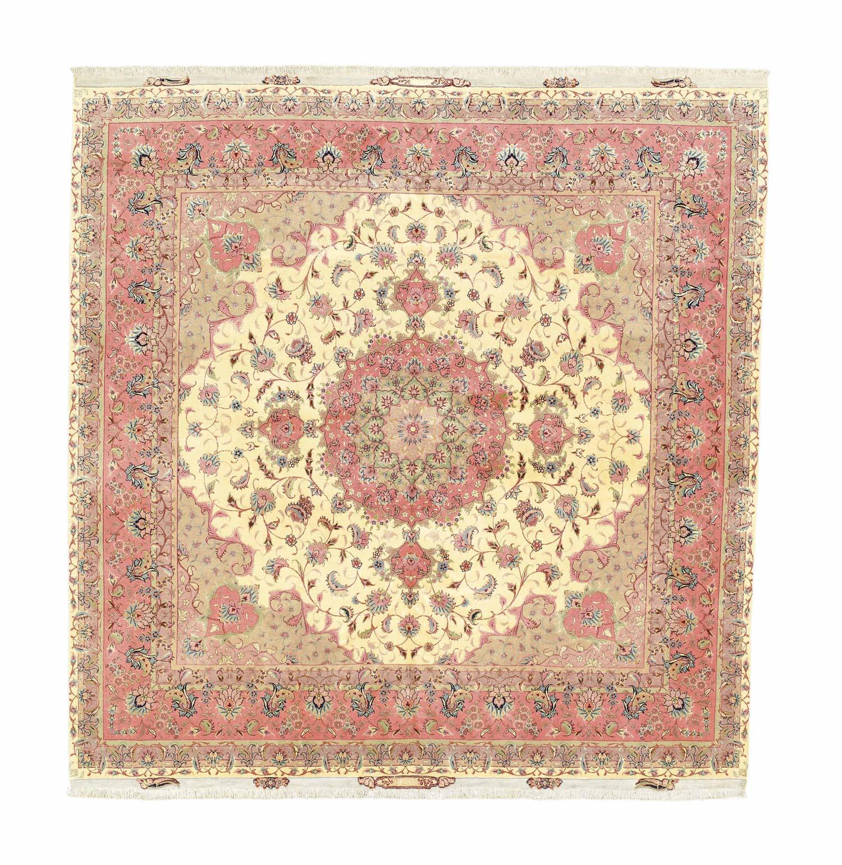 A very fine pat silk Tabriz ca