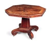 A GEORGE IV MAHOGANY CENTRE TABLE