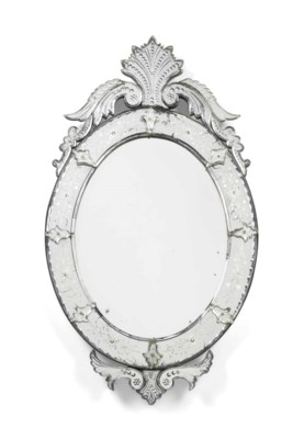 A VENETIAN ETCHED AND MOULDED