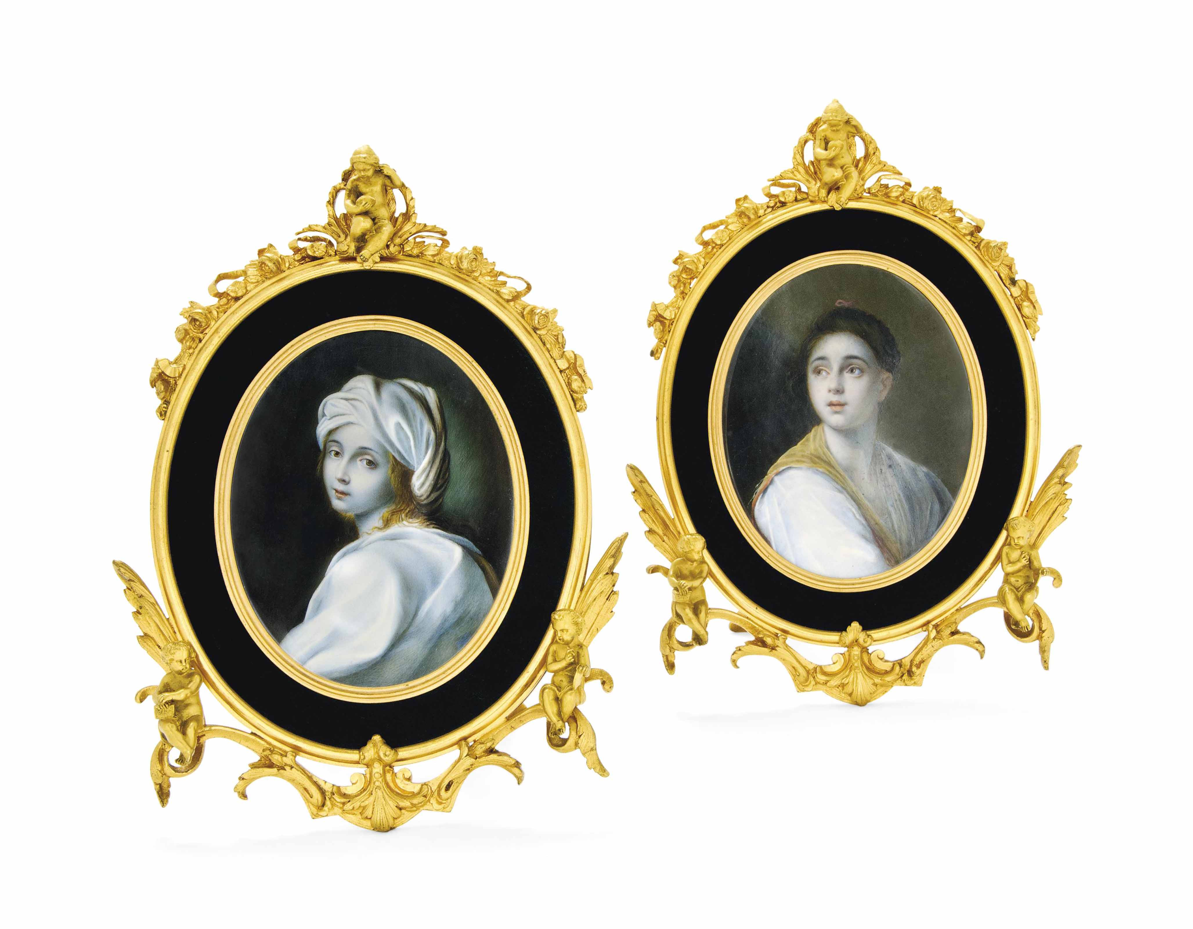 A PAIR OF MINIATURE PAINTINGS
