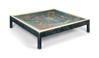 A LARGE PAINTED LOW TABLE