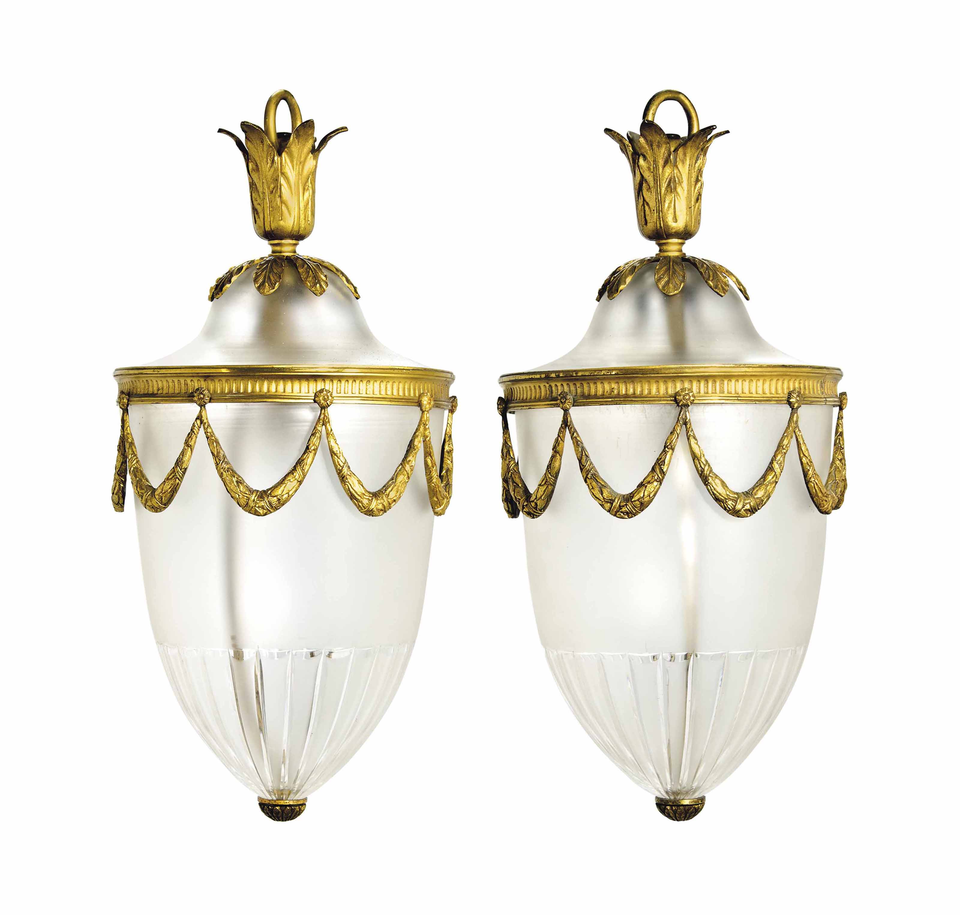 A PAIR OF EDWARDIAN CUT-GLASS