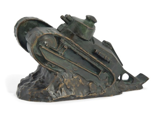 A FRENCH BRONZE MODEL OF A WOR