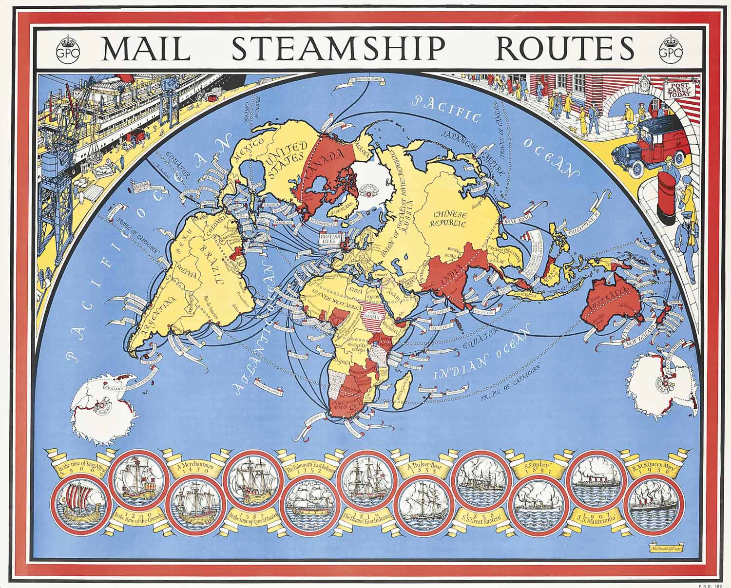 MAIL STEAMSHIP ROUTES