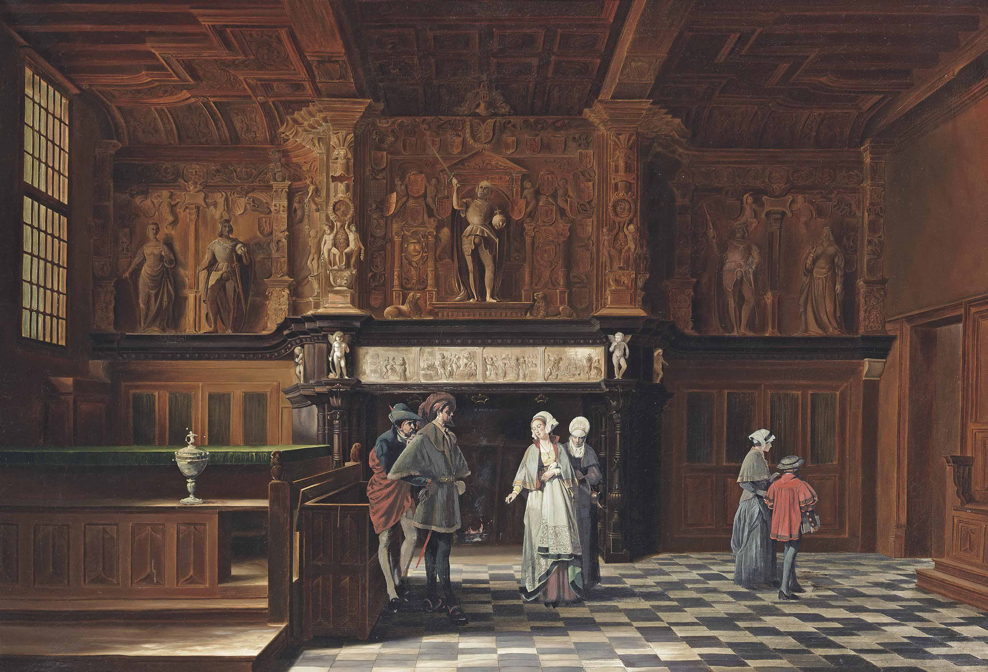 Conversations in the The Salle de Franc, Palais de Justice de Bruge, Belgium