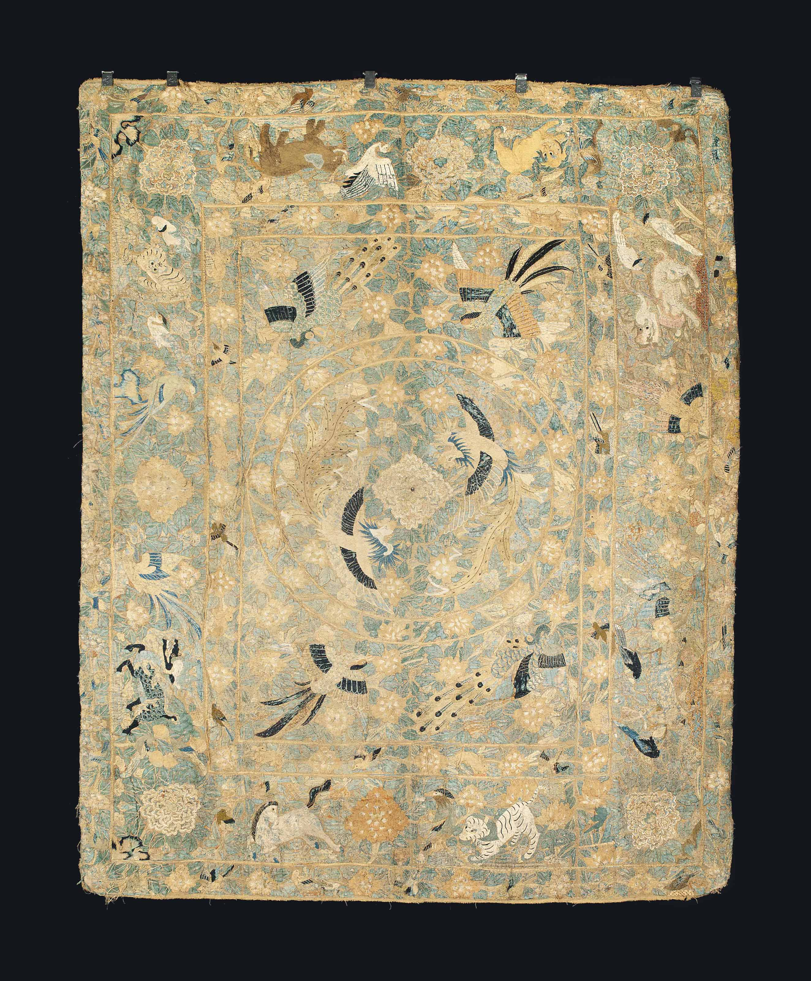 A CHINESE EXPORT COVERLET