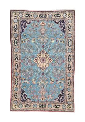 A fine part silk Qum carpet