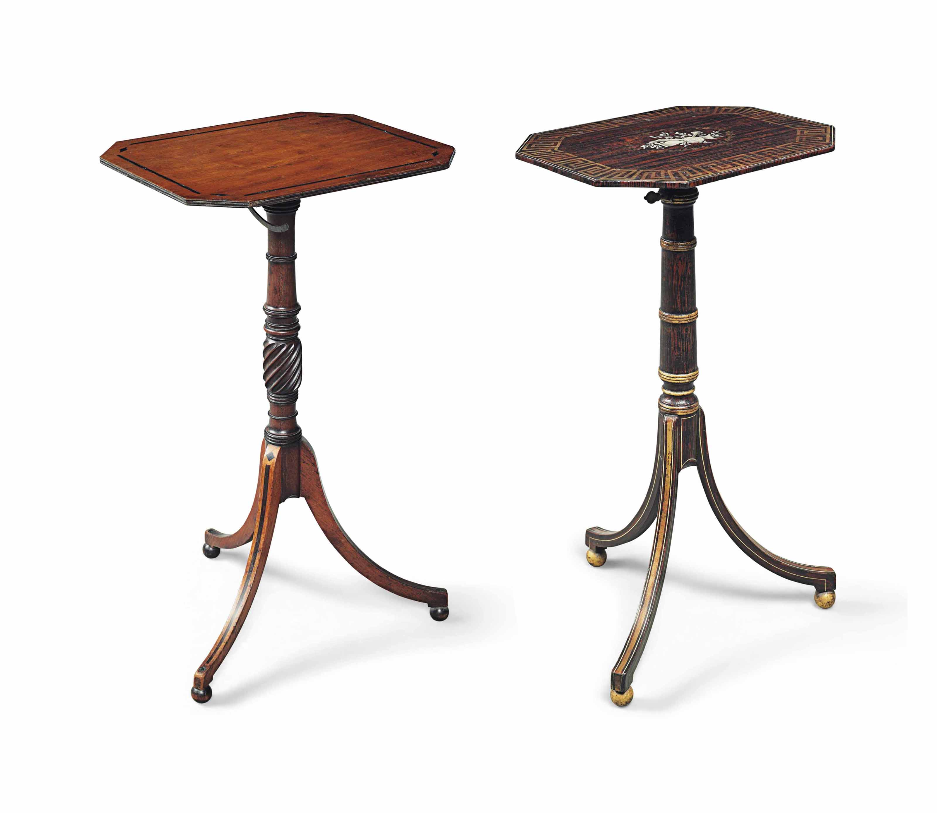 TWO REGENCY OCCASIONAL TABLES