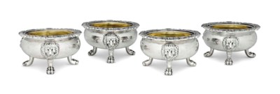 A SET OF FOUR GEORGE IV SILVER