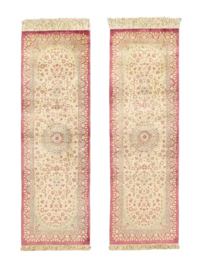 A PAIR OF EXTREMELY FINE SILK