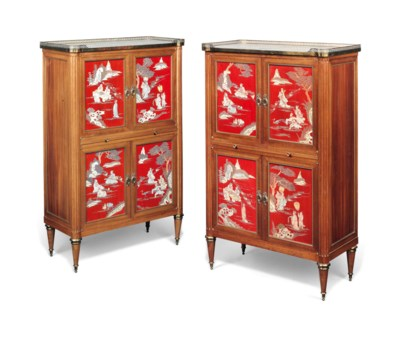 AN UNUSUAL PAIR OF FRENCH GILT