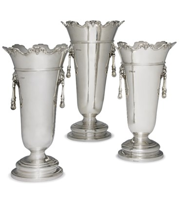 A MATCHED SET OF THREE SILVER