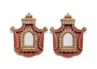 A PAIR OF SPANISH COLONIAL RED