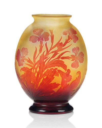 A GALLE CAMEO GLASS VASE
