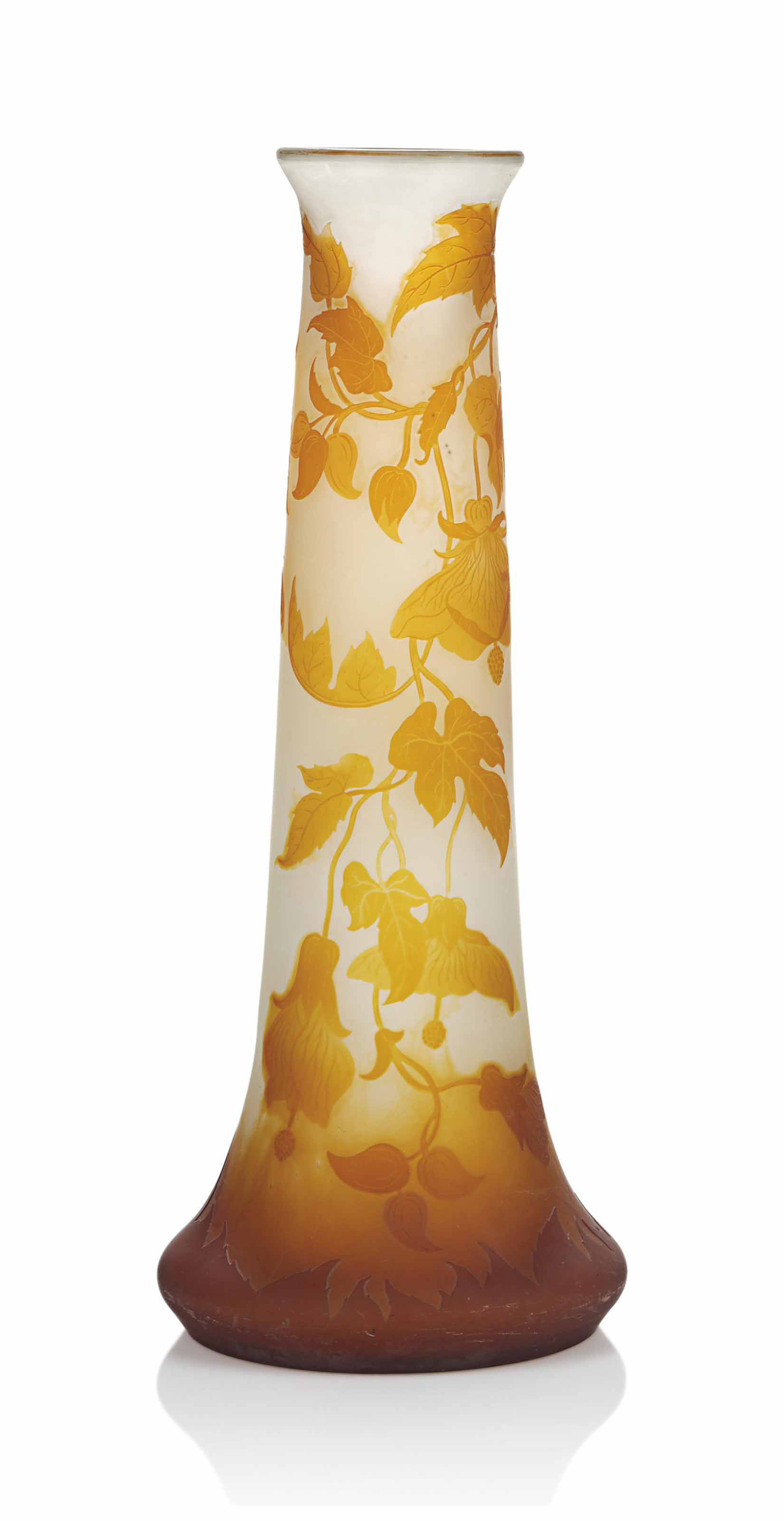 A LARGE GALLE CAMEO GLASS VASE