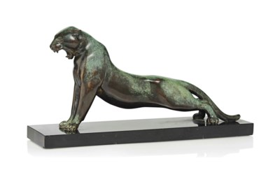 'STRETCHING PANTHER' A BRACQUE