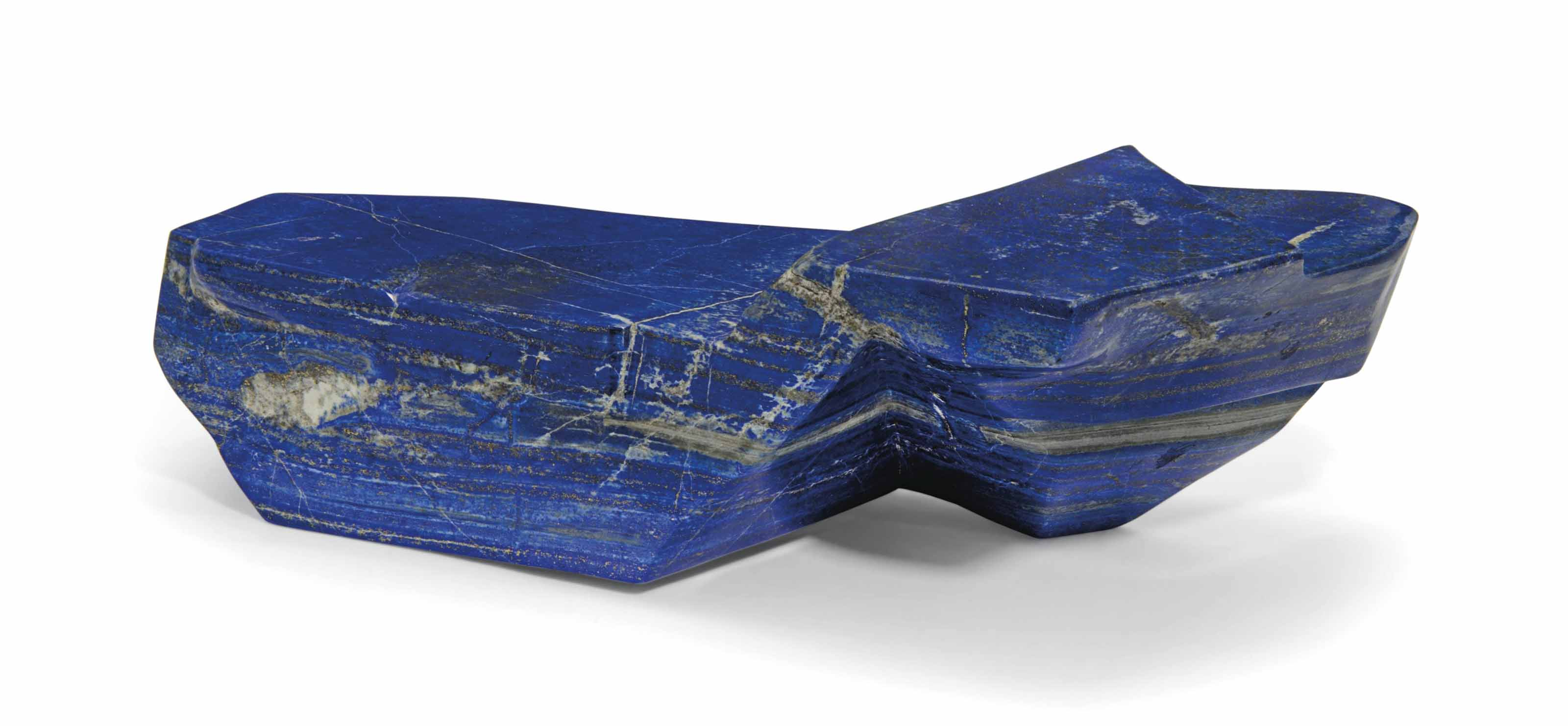 A LARGE SPECIMEN OF LAPIS LAZU