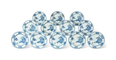 A SET OF TWELVE CHINESE 'BOATM