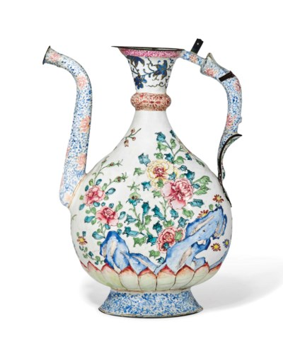 A CHINESE PAINTED ENAMEL 'PEAR