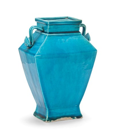 A CHINESE TURQUOISE-GLAZED TWO