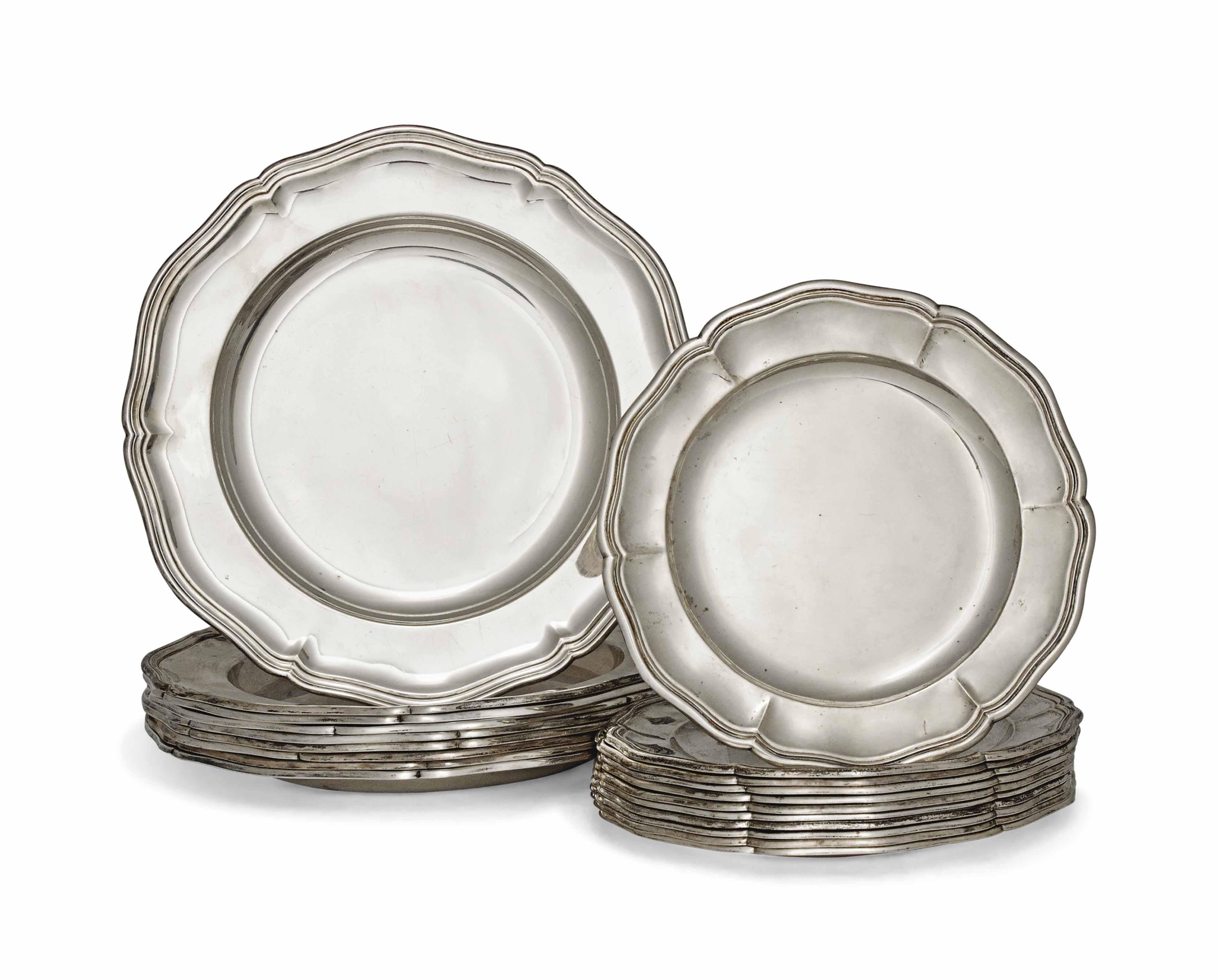 A SET OF NINE DANISH SILVER DI  sc 1 st  Christie\u0027s & A SET OF NINE DANISH SILVER DINNER PLATES   MARK OF CHRISTIAN F ...