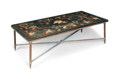 A FRENCH POLYCHROME LACQUER AN