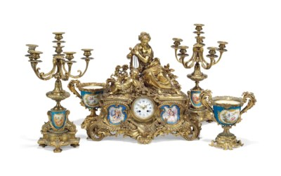 A FRENCH GILT-METAL SEVRES STY