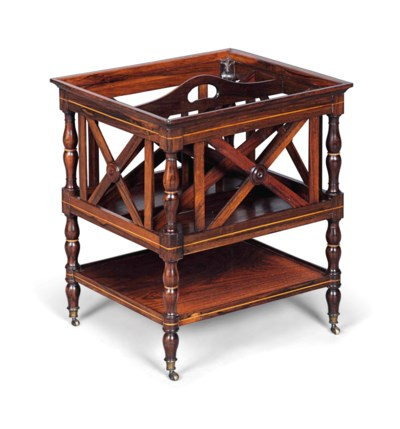 A CHARLES X BOXWOOD-INLAID ROS