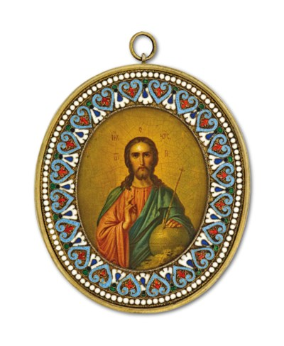 A RUSSIAN ICON OF SALVATOR MUN