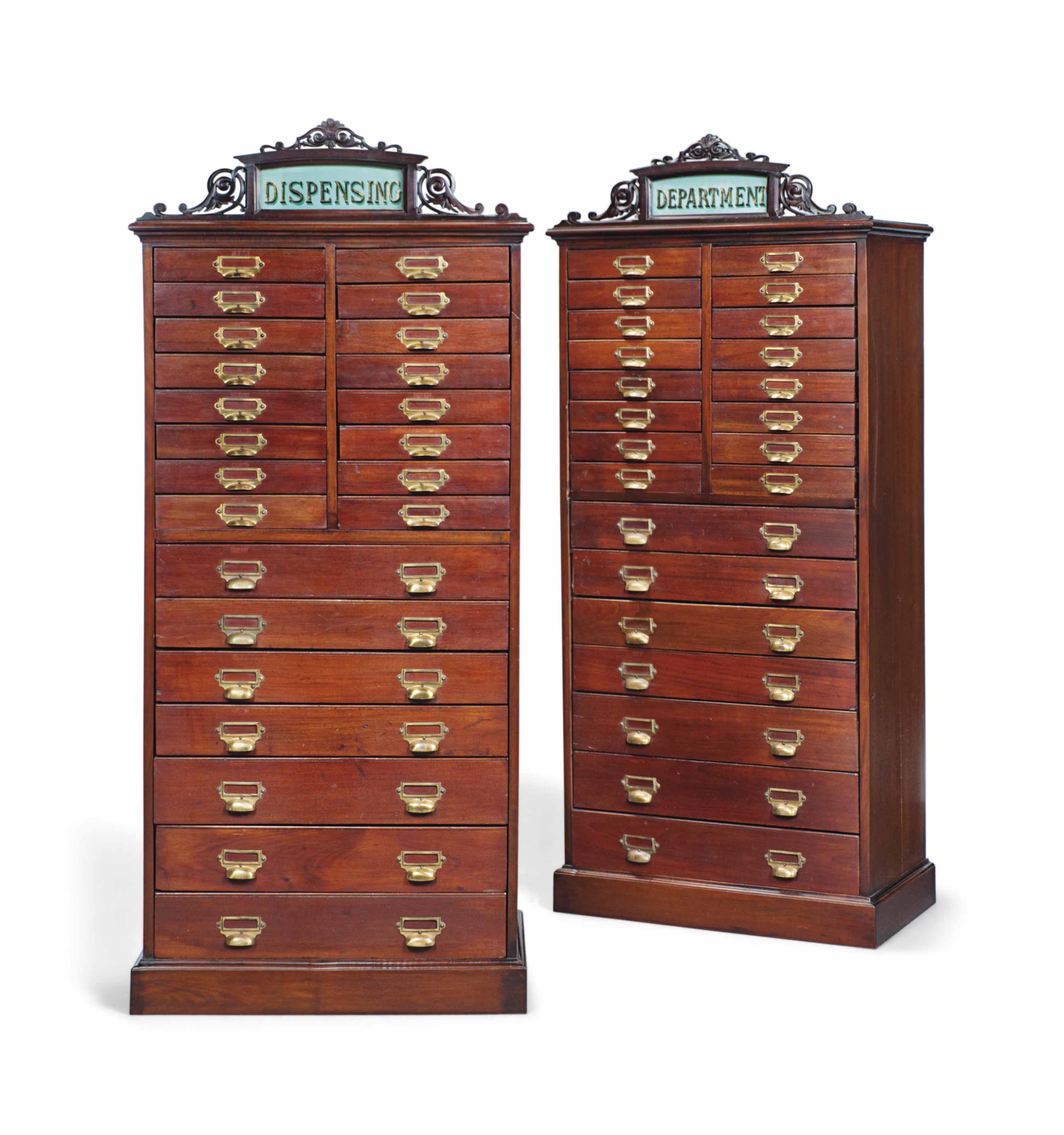 A PAIR OF MAHOGANY