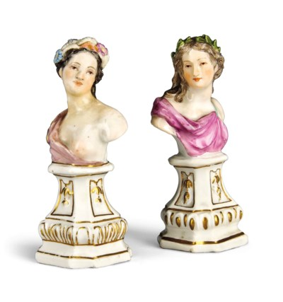 TWO SMALL MEISSEN MYTHOLOGICAL