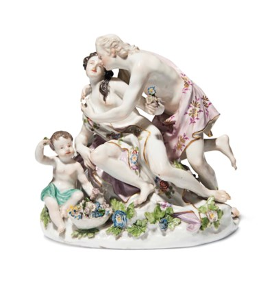 A MEISSEN GROUP OF ZEPHYR AND