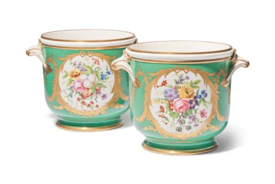 A PAIR OF SEVRES (LATER-DECORA
