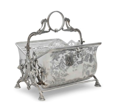 A VICTORIAN SILVER BISCUIT BAR